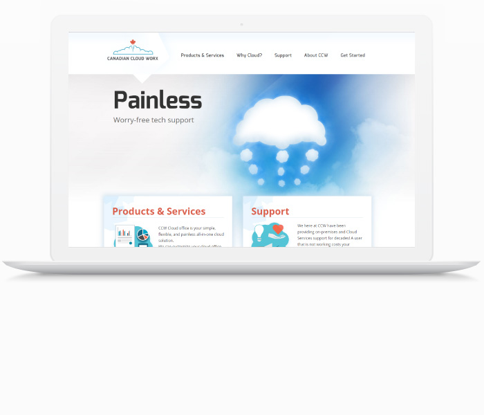 Canadian Cloud Worx Website Design
