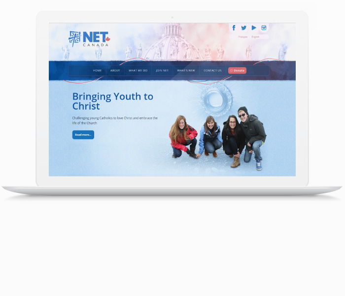 NET Canada Website Design