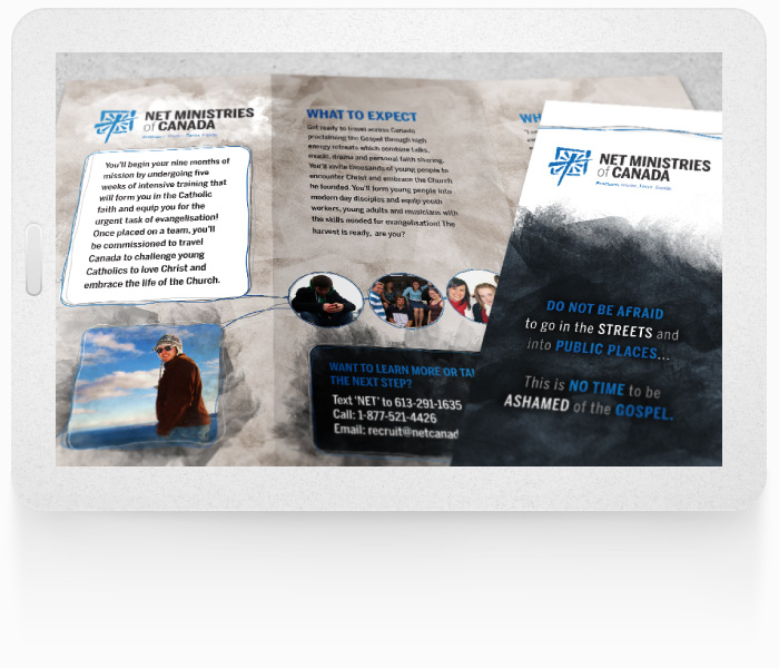 NET Ministries Print Design