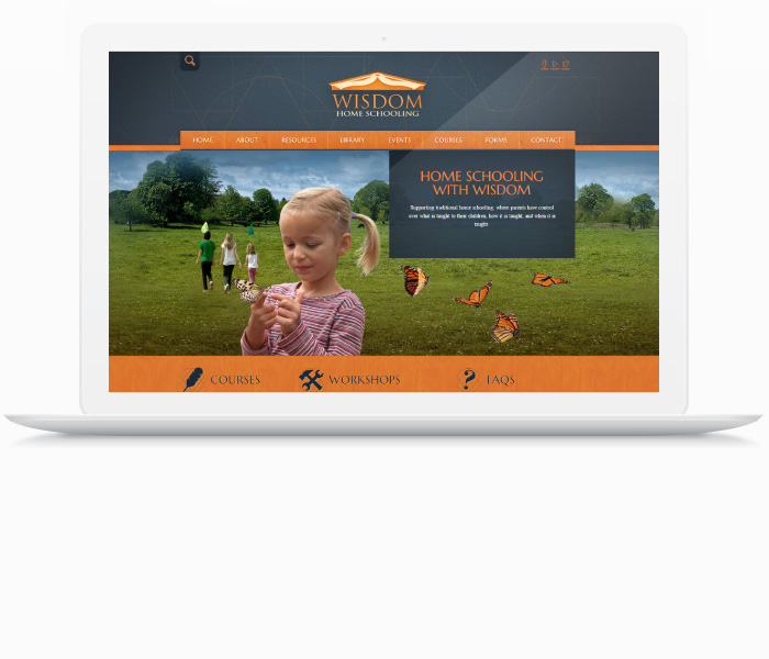 WISDOM Home Schooling Website Design