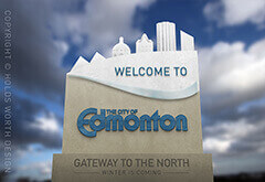 Edmonton Welcome Sign Design